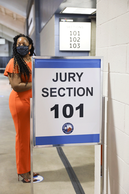 Entering the Jury Call Seating Room